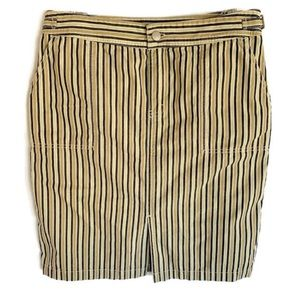 J. Crew Skirt Size 8 Straight Neutral Stripes